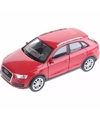 Speelgoed rode Audi Q3 auto 12 cm