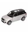 Speelgoed zilveren Range Rover Sport auto 1:36
